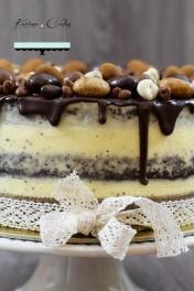 Maková torta bez múky s čokoládovou polevou